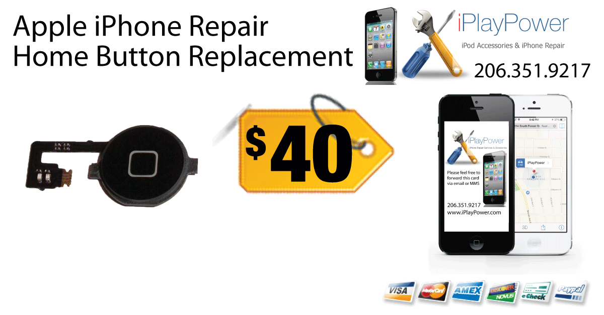 iPhone home button repair service from iPlayPower